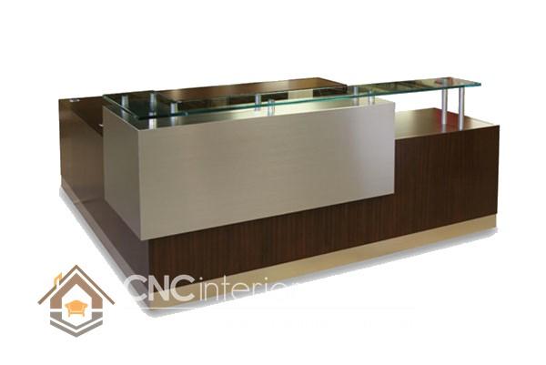 Thiết kế quầy tiếp tân đẹp CNC – H11