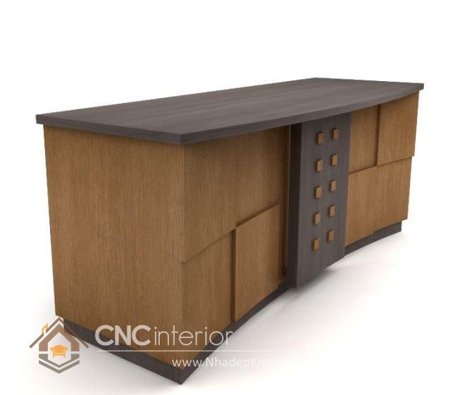 Thiết kế quầy tiếp tân đẹp CNC – H12