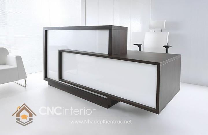 Thiết kế quầy tiếp tân đẹp CNC – H13