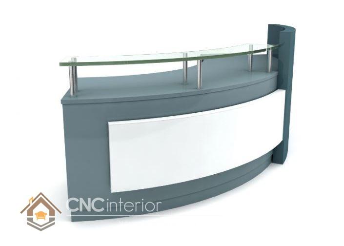 Thiết kế quầy tiếp tân đẹp CNC – H14