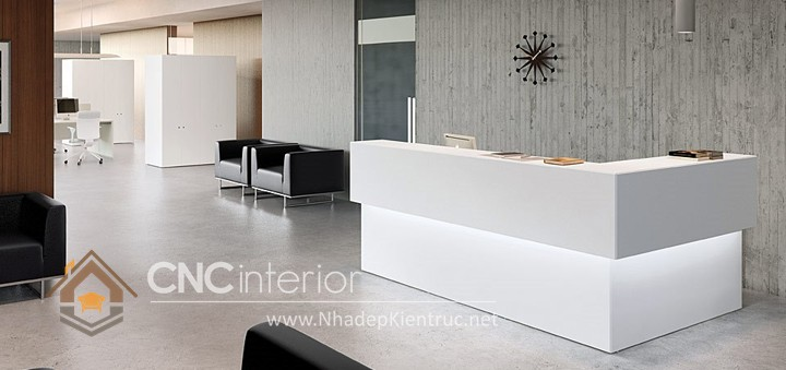 Thiết kế quầy tiếp tân đẹp CNC – H17