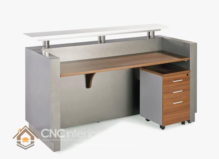 Thiết kế quầy tiếp tân đẹp CNC – H18