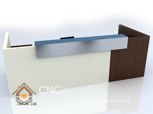 Thiết kế quầy tiếp tân đẹp CNC – H19