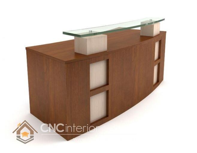 Thiết kế quầy tiếp tân đẹp CNC – H02