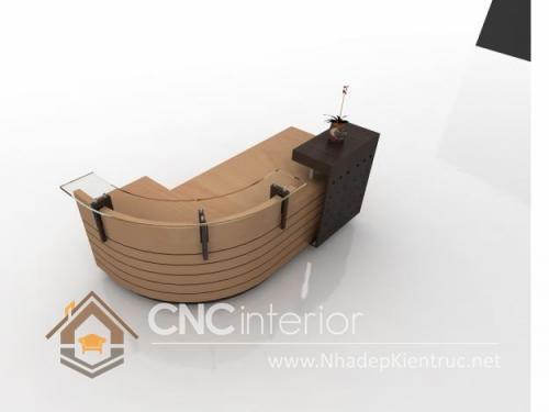 Thiết kế quầy tiếp tân đẹp CNC – H21
