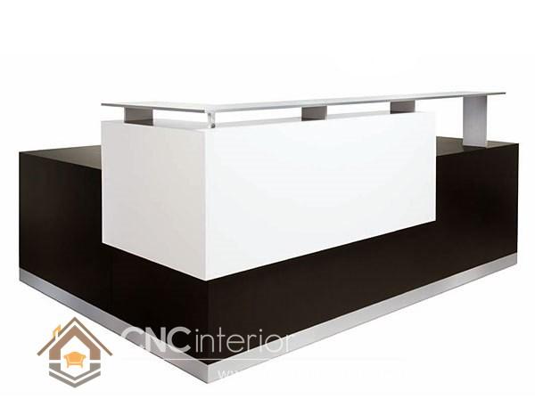 Thiết kế quầy tiếp tân đẹp CNC – H24