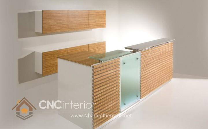 Thiết kế quầy tiếp tân đẹp CNC – H25