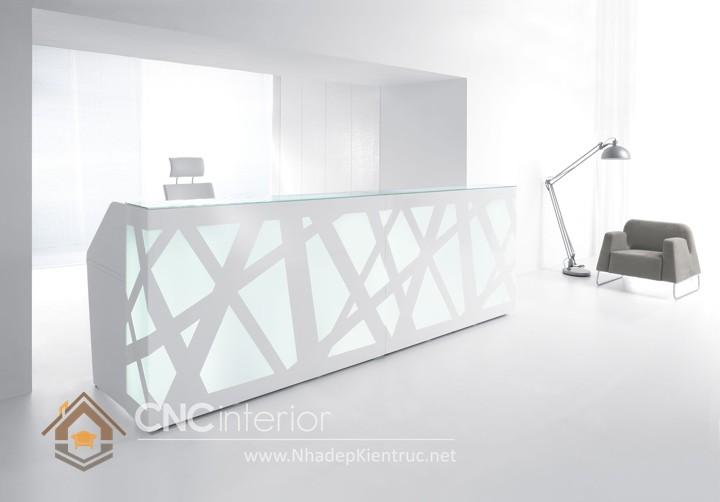 Thiết kế quầy tiếp tân đẹp CNC – H26