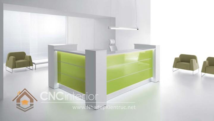Thiết kế quầy tiếp tân đẹp CNC – H30