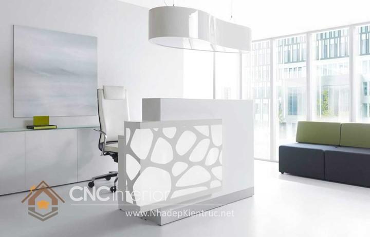 Thiết kế quầy tiếp tân đẹp CNC – H31