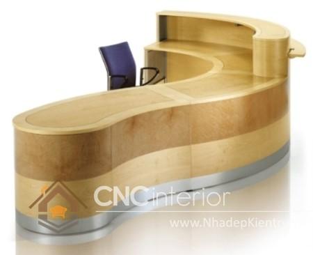 Thiết kế quầy tiếp tân đẹp CNC – H32