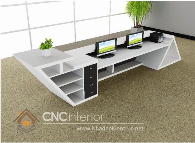 Thiết kế quầy tiếp tân đẹp CNC – H03