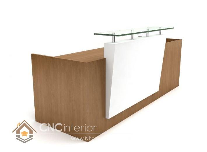 Thiết kế quầy tiếp tân đẹp CNC – H04