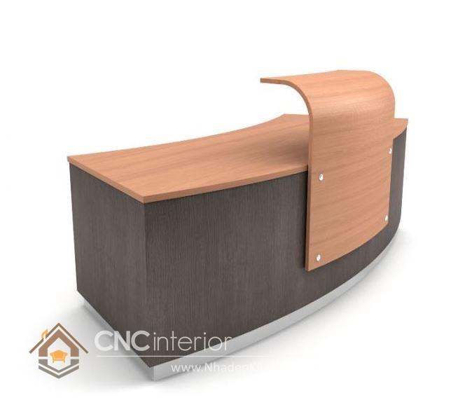 Thiết kế quầy tiếp tân đẹp CNC – H05