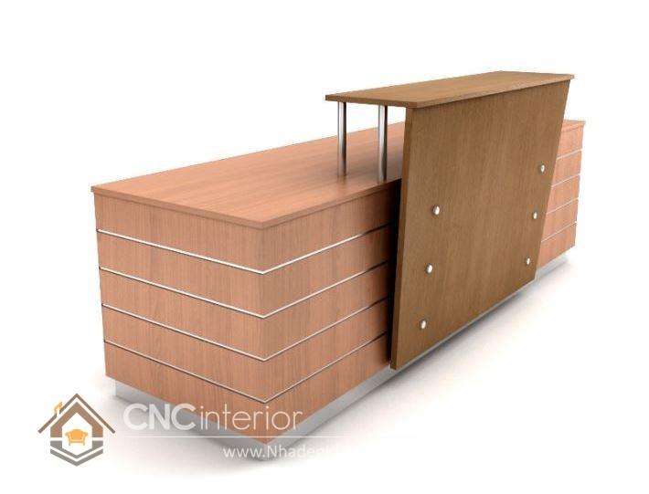 Thiết kế quầy tiếp tân đẹp CNC – H06