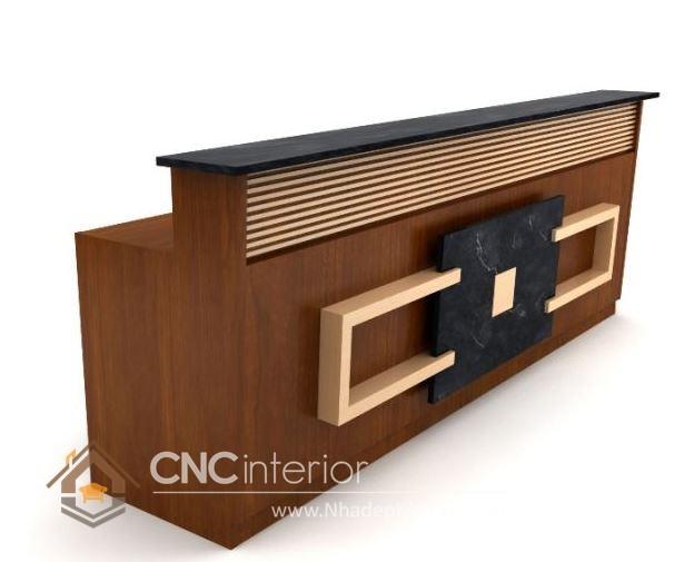 Thiết kế quầy tiếp tân đẹp CNC – H07