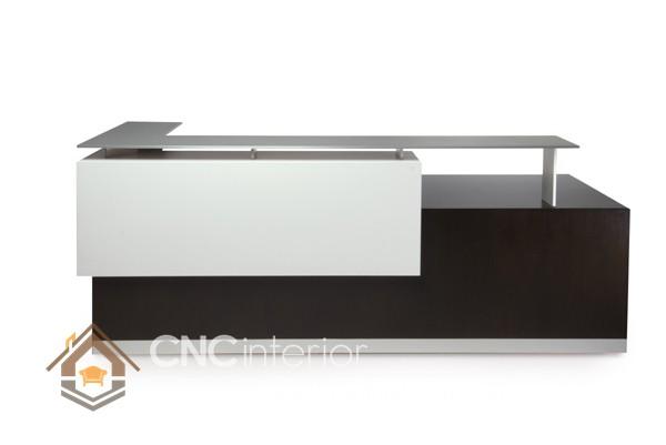 Thiết kế quầy tiếp tân đẹp CNC – H08