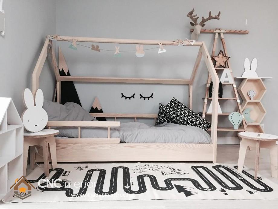 Giường ngủ kiểu công chúa CNC – H01