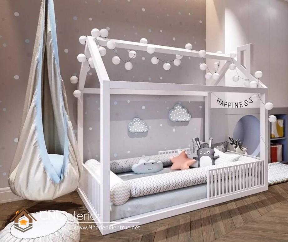 Giường ngủ kiểu công chúa CNC – H02
