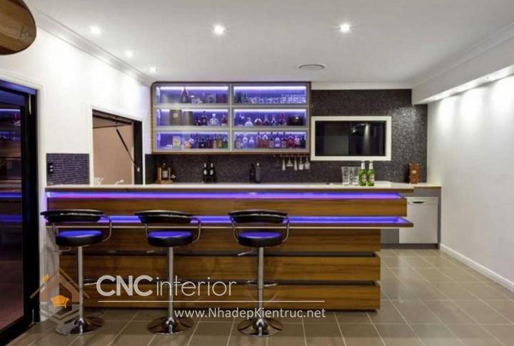 Mẫu quầy bar gia đình đẹp CNC-H 36