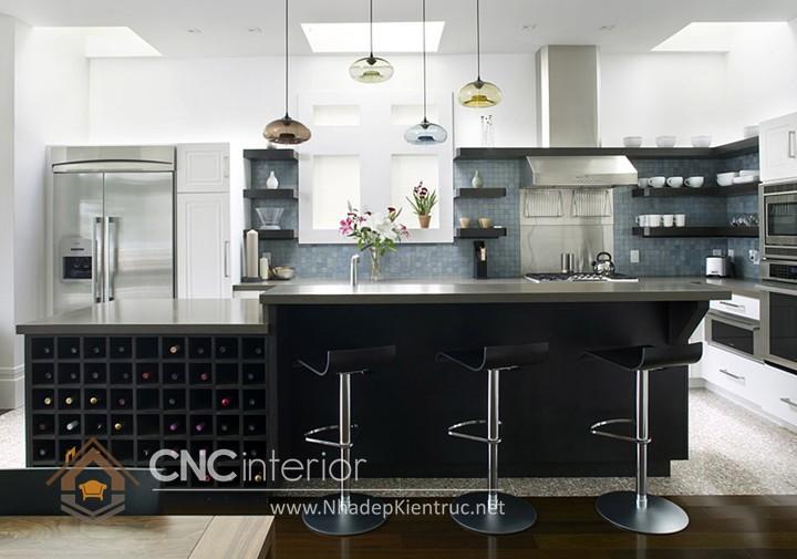 Mẫu quầy bar gia đình đẹp CNC-H 38