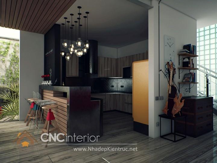 Mẫu quầy bar gia đình đẹp CNC-H 42
