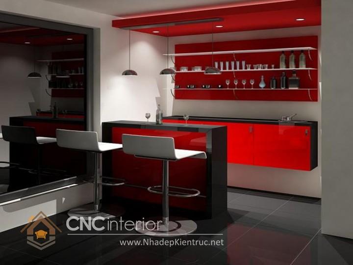 Mẫu quầy bar gia đình đẹp CNC-H 44