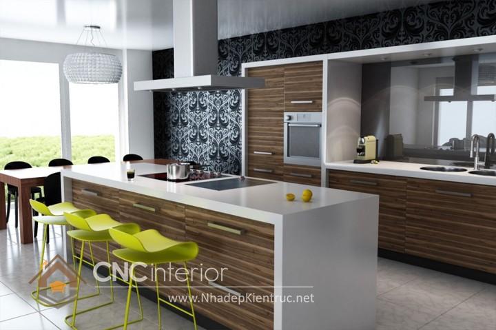 Mẫu quầy bar gia đình đẹp CNC-H 48