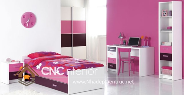 Trang trí phòng ngủ màu hồng (3)