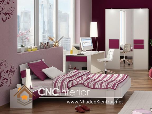 Trang trí phòng ngủ màu hồng (4)