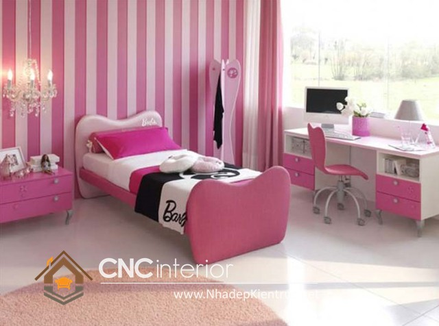 Trang trí phòng ngủ màu hồng (7)