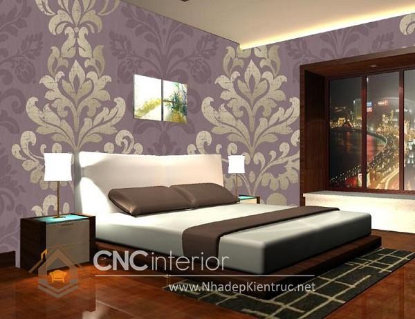 cách trang trí phòng ngủ bằng giấy dán tường là một lựa chọn thú vị