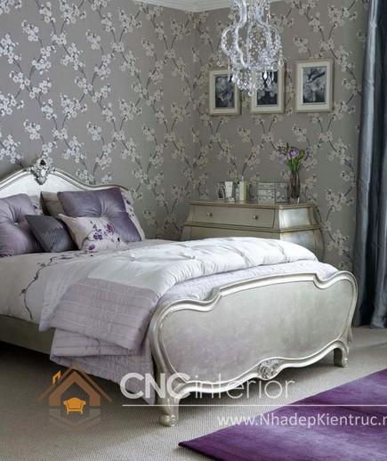 cách trang trí phòng ngủ bằng giấy dán tường (4)