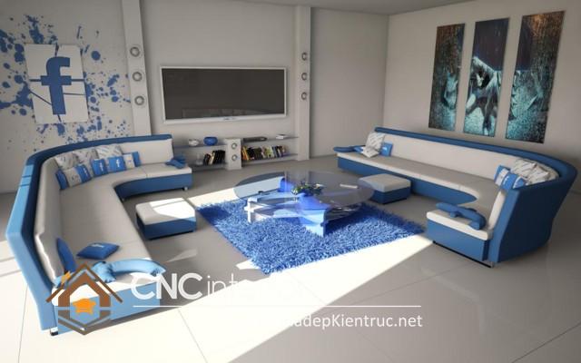 nội thất phòng khách biệt thự (5)
