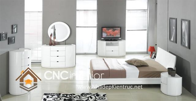 nội thất phòng ngủ màu trắng (2)