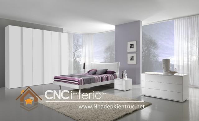 nội thất phòng ngủ màu trắng (3)