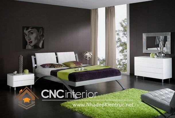 nội thất phòng ngủ màu trắng (4)