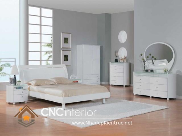 nội thất phòng ngủ màu trắng (6)