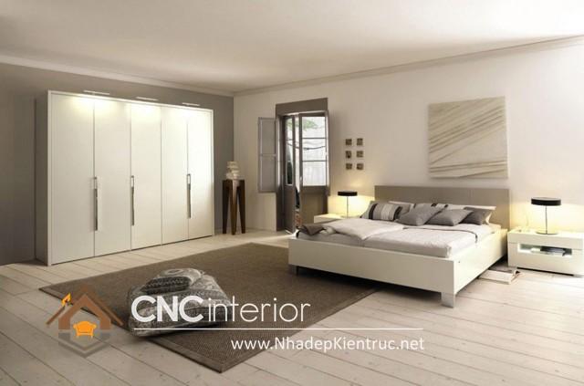 nội thất phòng ngủ màu trắng (7)