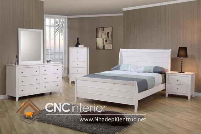 nội thất phòng ngủ màu trắng (8)
