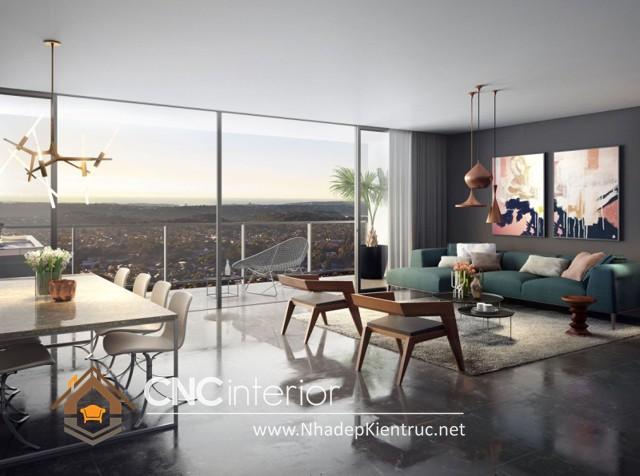 thiết kế phòng khách hiện đại (2)