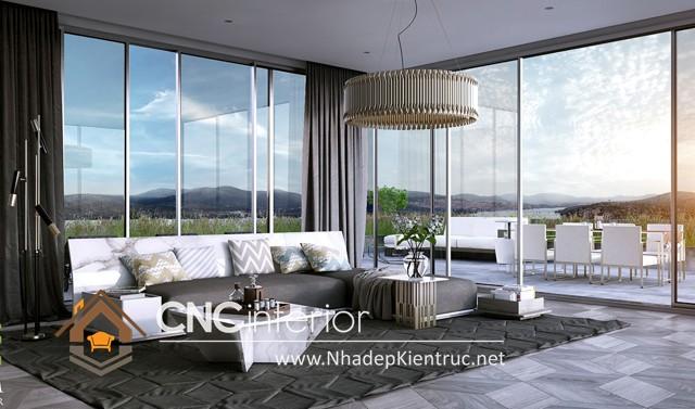 thiết kế phòng khách hiện đại (5)