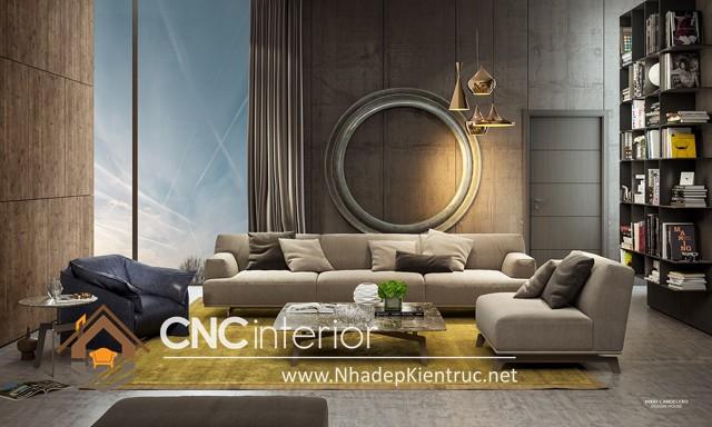 thiết kế phòng khách hiện đại (7)