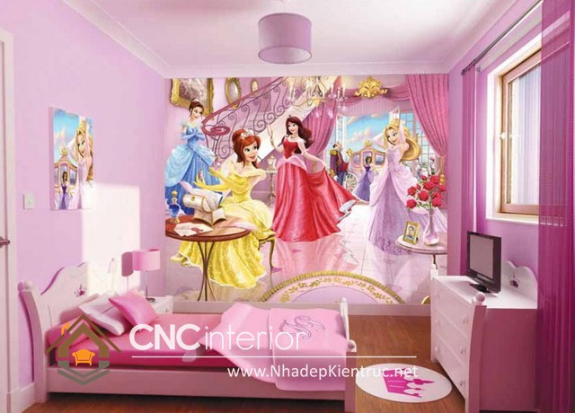 Cách trang trí phòng ngủ cho bé gái (5)