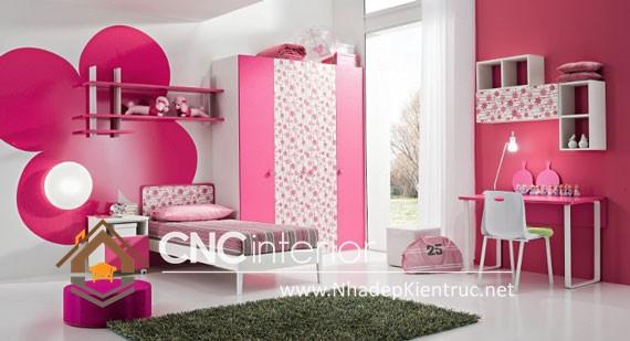 Cách trangt trí phòng ngủ cho bé gái(6)