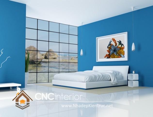 Phòng ngủ màu xanh dương (10)
