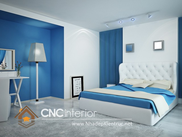Phòng ngủ màu xanh dương 1