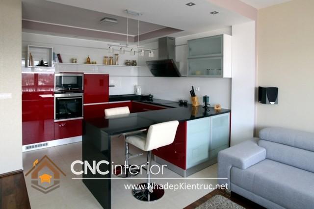 Tủ bếp có quầy bar (1)