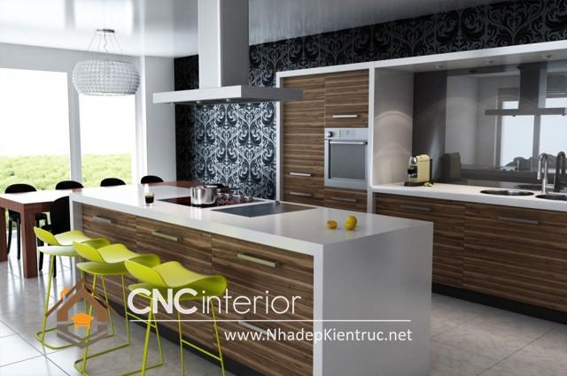 Tủ bếp có quầy bar (4)