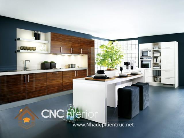 Tủ bếp có quầy bar (5)